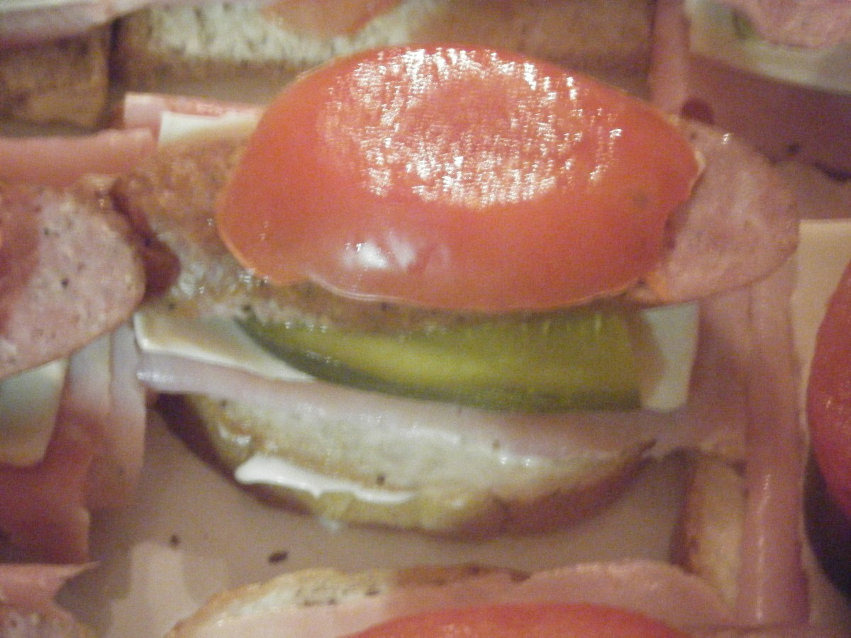 Kanapki (Open Face Polish Sandwich)