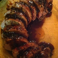 Pork Tenderloin With A Merlot Glaze