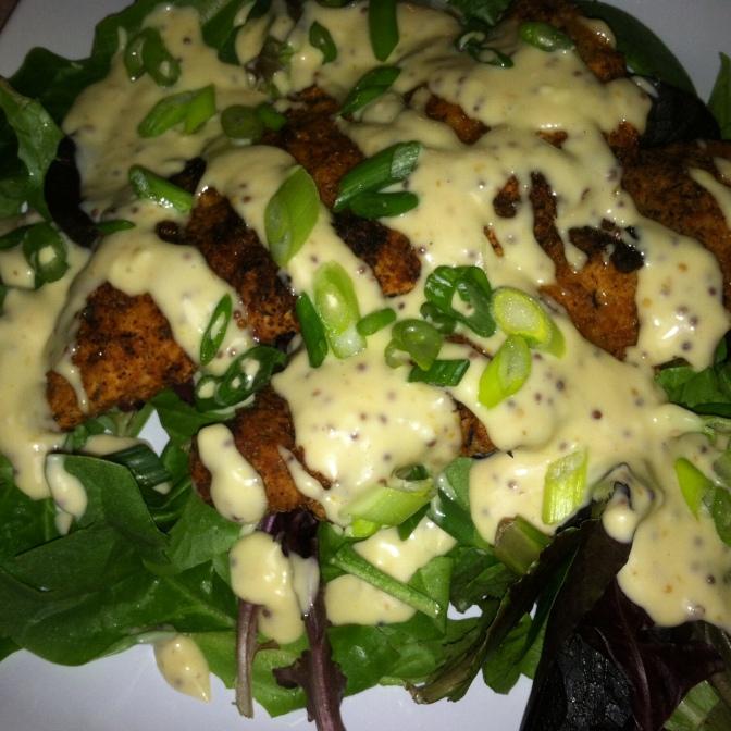 Honey Mustard Crispy Chicken Salad