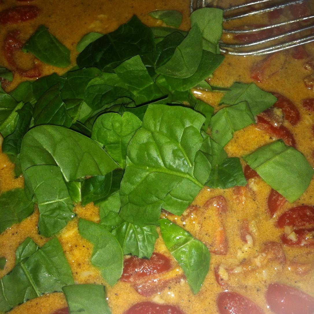 Creamy BLT + Wilted Spinach Pasta (34)