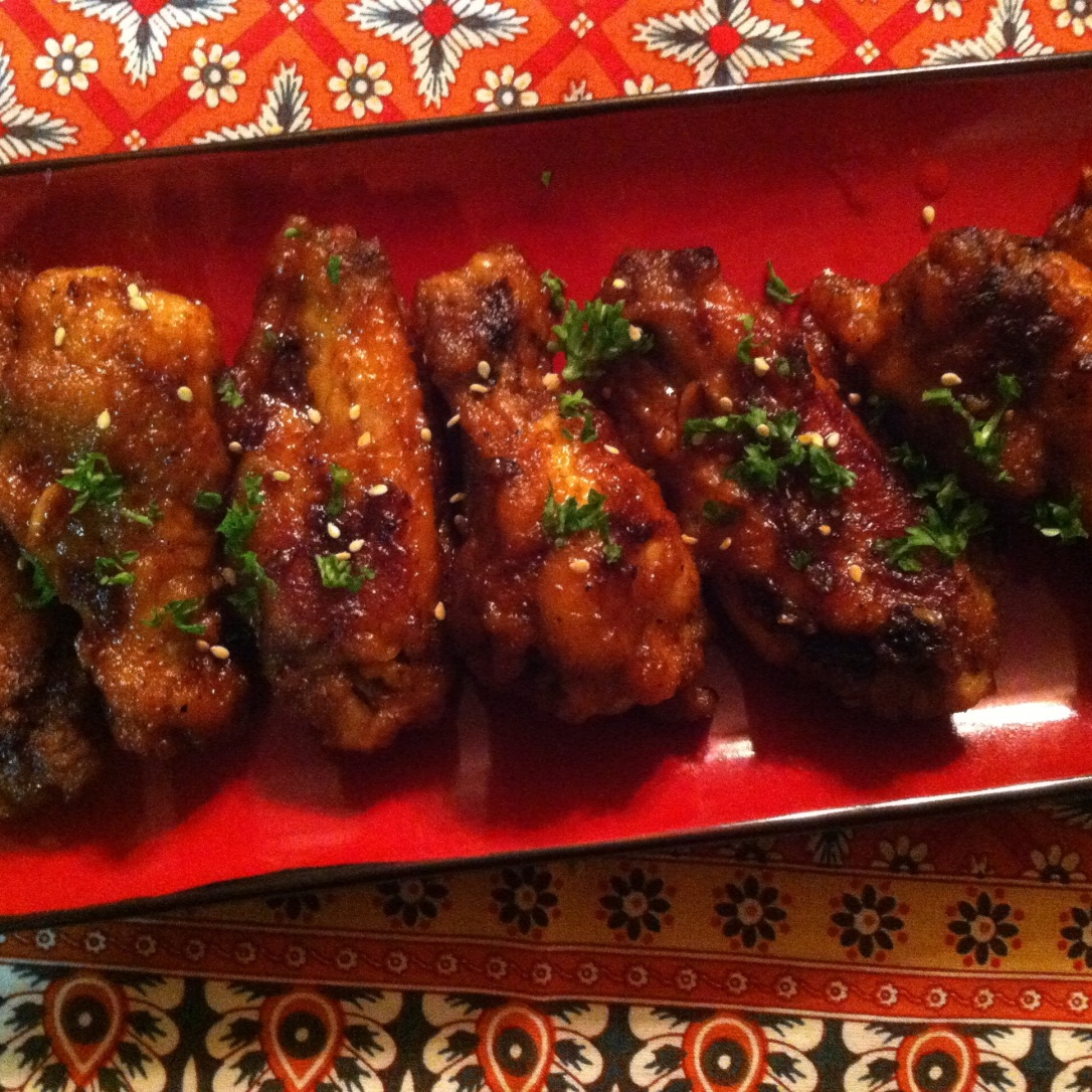 Crispy Honey + Sriracha Wings (6)