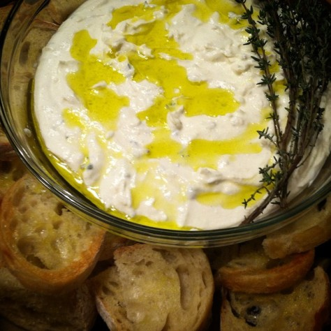 Ricotta Thyme + Olive Oil Spread