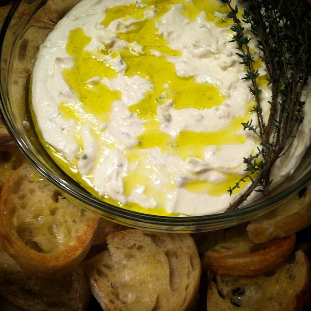 Ricotta Thyme + Olive Oil Spread With A Beer Tasting