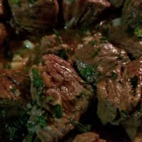 Garlic Butter + White Wine Steak Bites