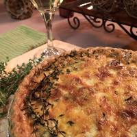 Black Forest Ham + Carmelized Onion Quiche