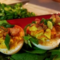 Smokey Bacon Deviled Eggs