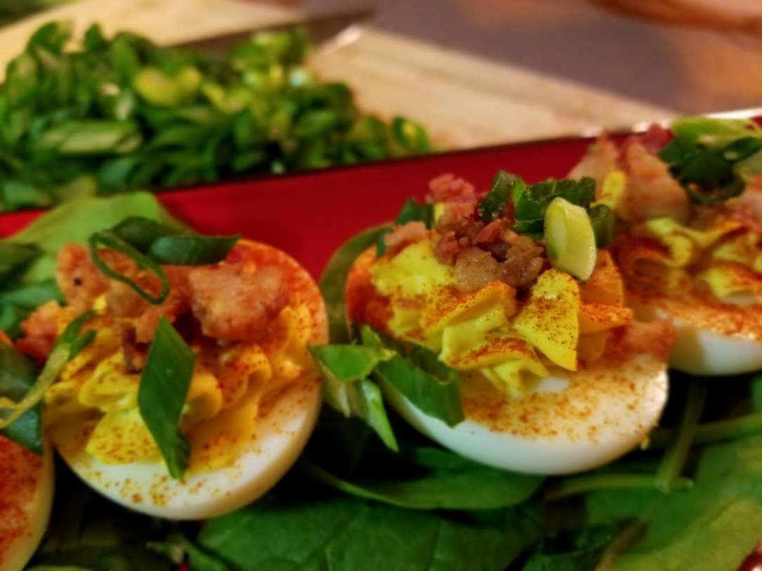 smokey bacon deviled eggs 1
