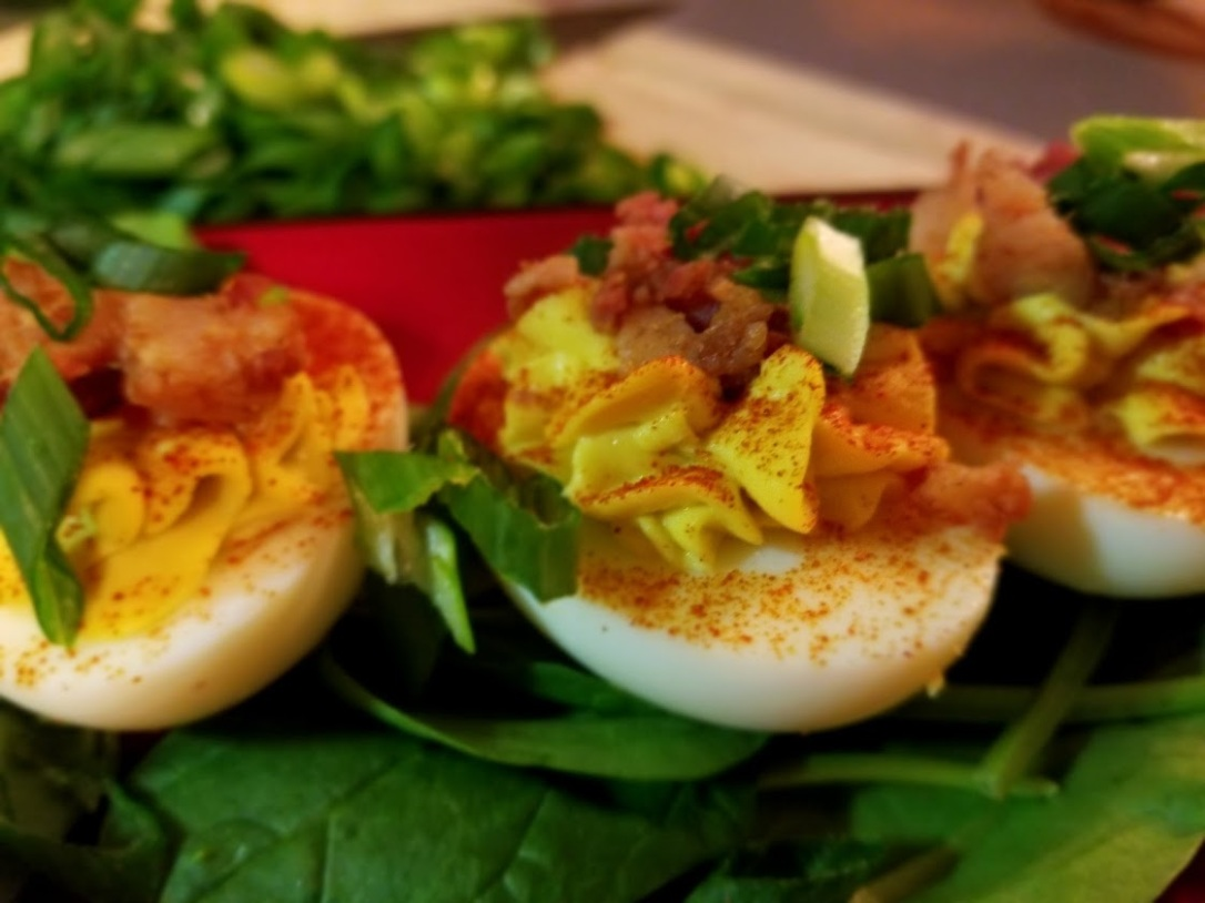 smokey bacon deviled eggs 3